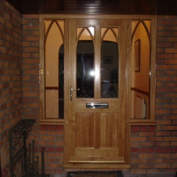 external wood doors, oak, bespoke deisgn, Stokesley, Gary Bibby, joinery