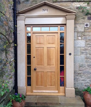 Gary Bibby Joinery, Stokesley, North Yorkshire, Oak door and frame deisgn